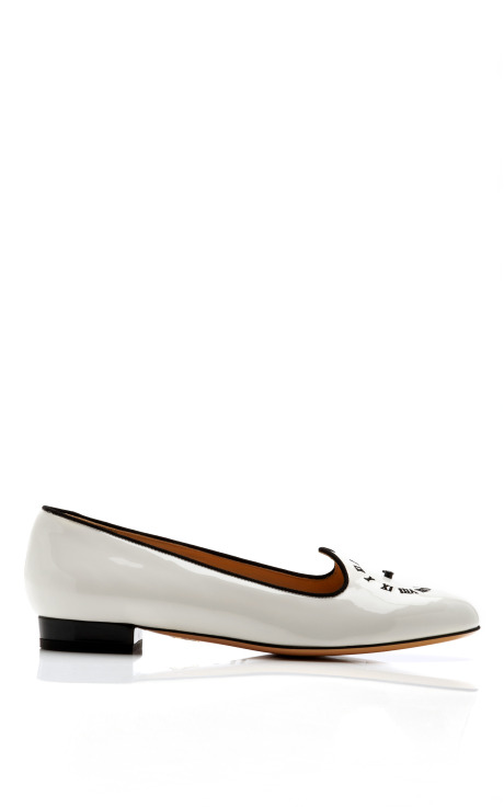 Fashionably late patent leather loafer by charlotte olympia