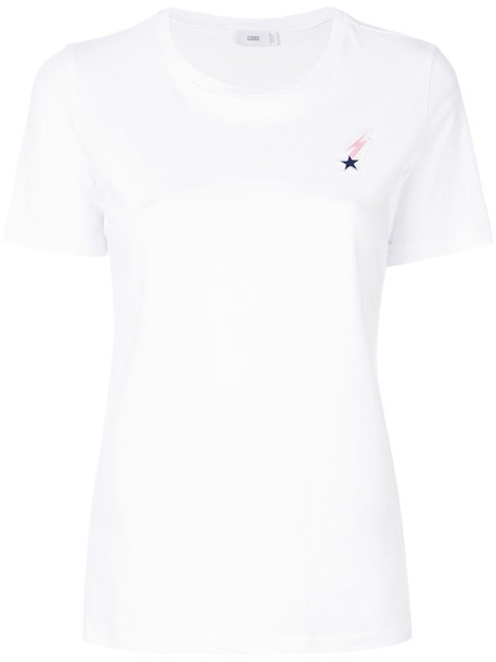 Closed t-shirt shirt t-shirt embroidered women white cotton top