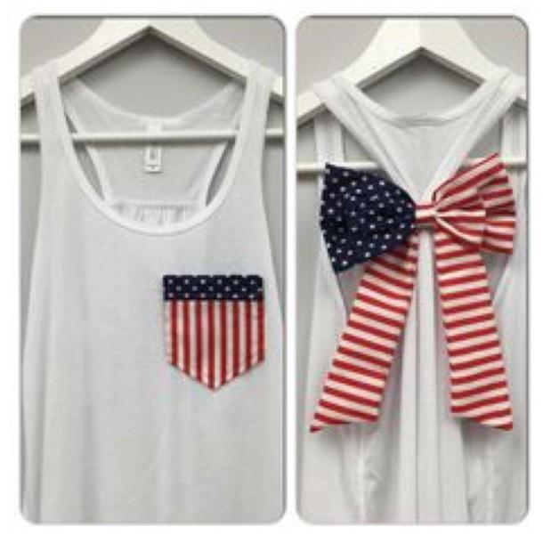 shirt tank top american flag