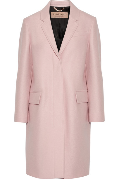 Burberry London coat wool pastel pink pastel pink