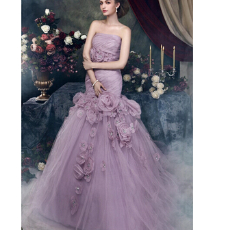 dress wedding dress royal wedding purple wedding dress tulle wedding dress flowers skirt