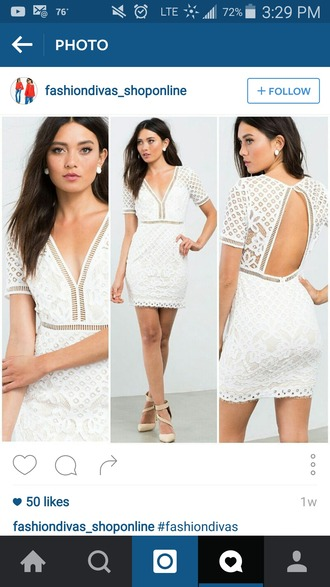dress embroidered white dress instagram white lace dress