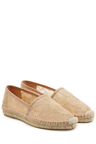 espadrilles lace rose shoes