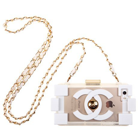 Chanel iphone 5/5s white fashion case