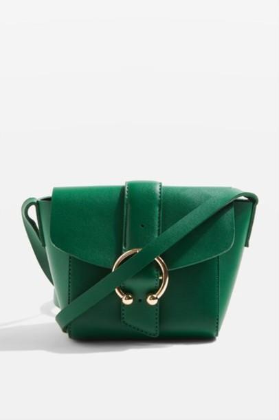 Topshop cross bag green