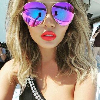 sunglasses make-up lipstick swimwear chrissy teigen instagram summer