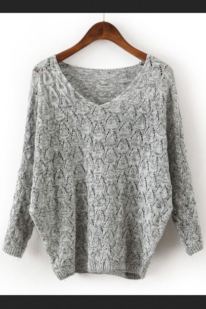 sweater gray knitted sweater