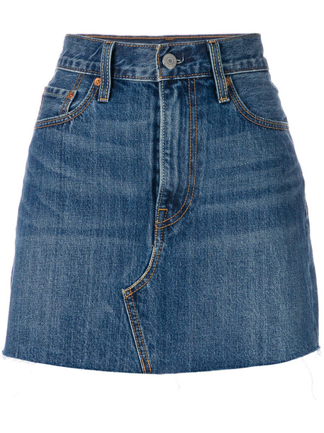 skirt mini skirt denim mini women cotton blue