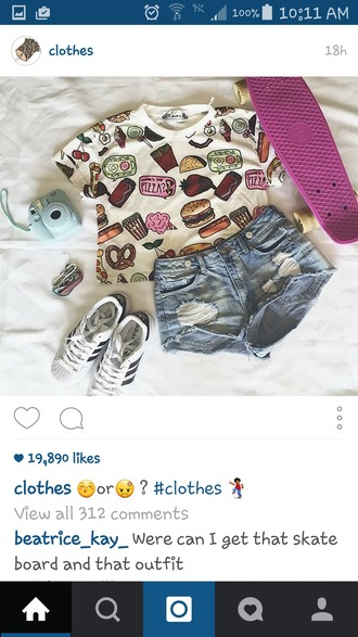 shirt food