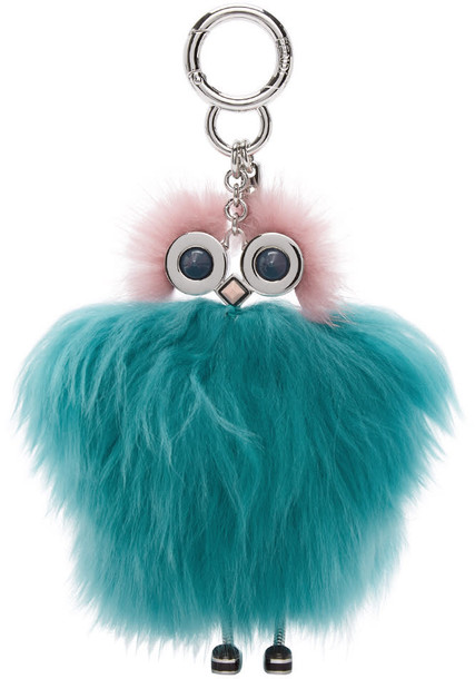 Fendi bag charm bag blue pink
