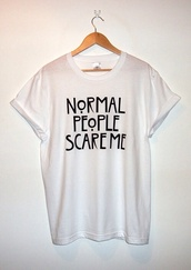 american horror story,www.ebonylace.net,white t-shirt,grunge wishlist,white,t-shirt,oversized