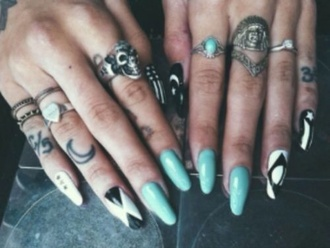 jewels rings silver skull gypsy one ring gold silver indian native american knuckle ring nail polish midi rings. big rings