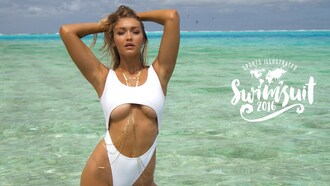swimwear sports illustrated one piece swimsuit gigi hadid style gigi hadid white swimwear white