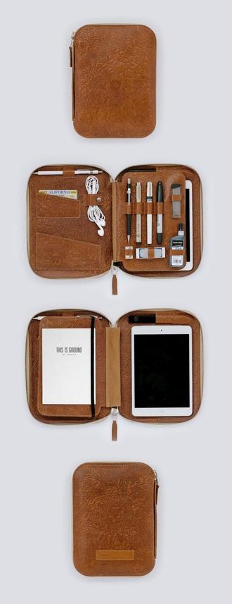 bag iphone cover notebook pencils pencil case organizer belt purse travel bag travel iphone case