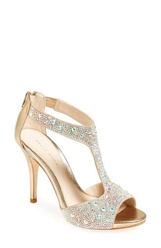 shoes prom shoes gold sandals high heel sandals sandals sandal heels