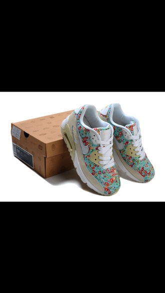shoes nike air max 90 floral