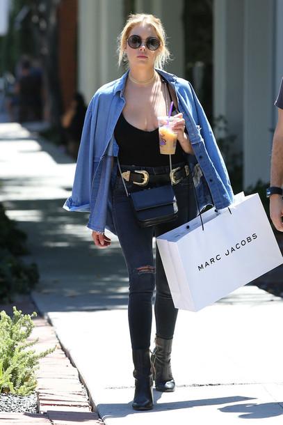 Black ripped jeans celebrity