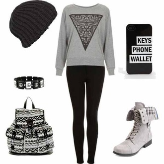 leggings shoes bag