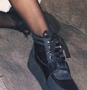 shoes,black sneakers,black,sneakers,platform shoes,grunge,tumblr