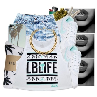 huff socks studded shorts graphic tank top nike huf