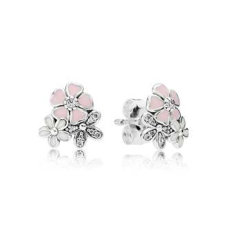 jewels jewelry pandora pink earrings cute