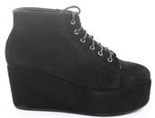 shoes,leather,platform shoes,lace up,black,boots