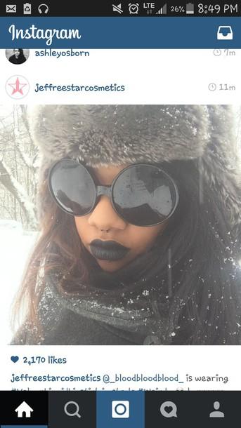 sunglasses bug eye dark fashion black
