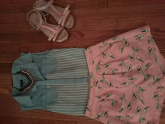 shirt blue and white striped rue 21