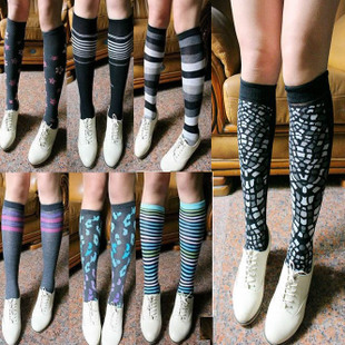 Spring and autumn Knee high socks stockings stocking knee socks 5pairs/lot,free shipping-inStockings from Apparel & Accessories on Aliexpress.com