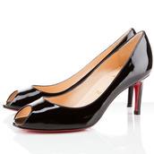 shoes,replica  christian louboutin you you 80mm peep toe pumps black 19-2341