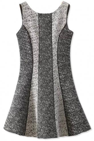 grey dress sleeveless dress a-line dresses