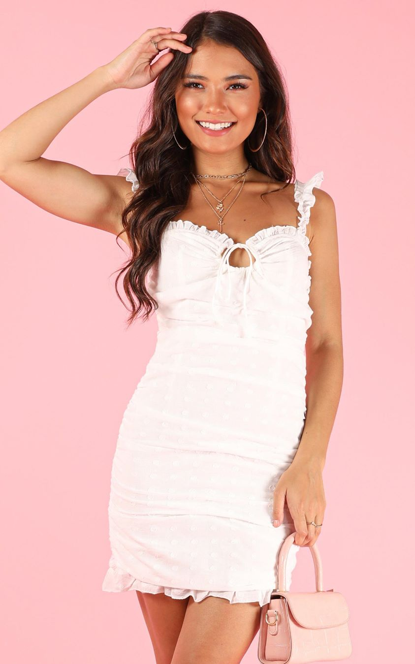 Showpo Sweet Pea dress in white - 6 (XS) Casual Outfits