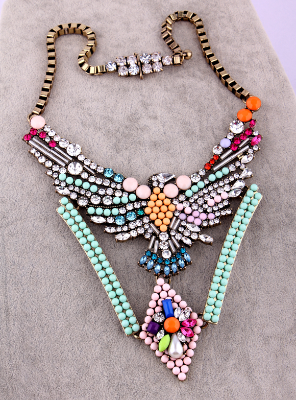 Shourouk eagle crystal necklace female short fashion vintage design fashion accessories
