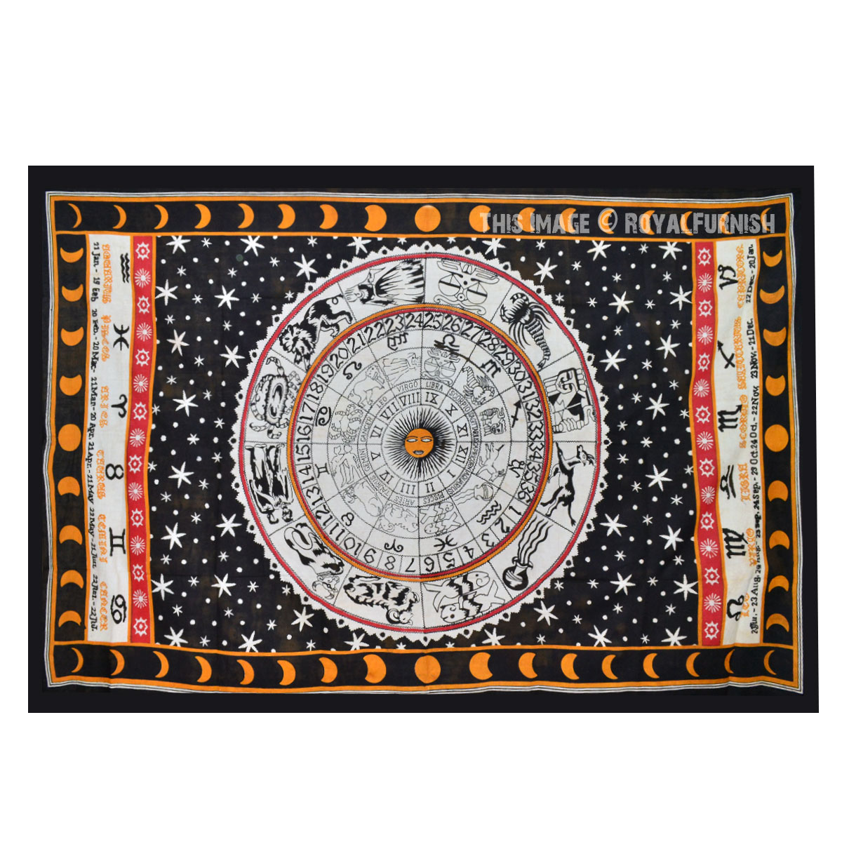 Indian Tapestry Wall Hanging zodiac indian tapestry wall hanging bed cover home wall decorative