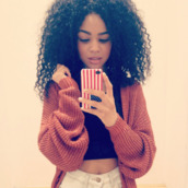 sweater,cardigan,red sweater,red,black sweater,curly hair,rouge,pull,gilet,pullover,phone cover