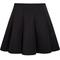 Black high waist pleated skirt - sheinside.com