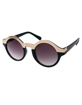 Asos metal top keyhole round sunglasses at asos
