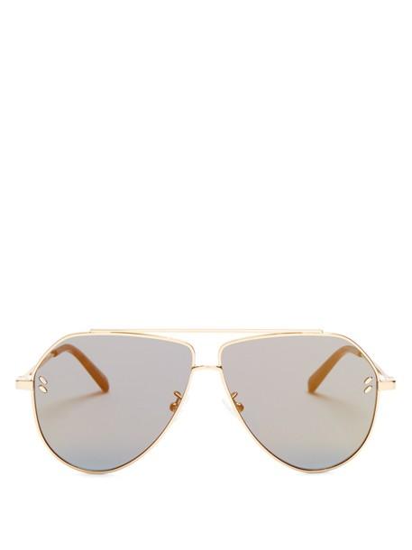 Stella McCartney sunglasses aviator sunglasses gold