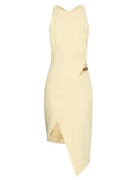 dress cut-out light yellow