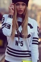 sweater,chanel,n5
