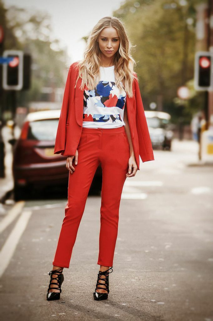 By lauren pope red tailored blazer (as seen on jade thirlwall & fleur east)