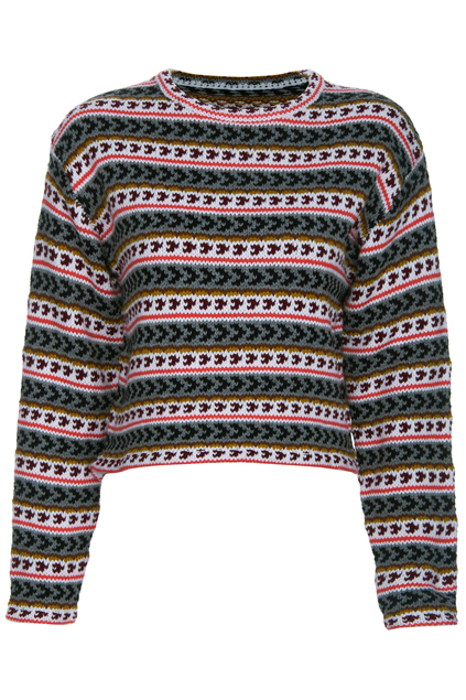 ROMWE | ROMWE Knitted Striped Long-sleeved Jumper, The Latest Street Fashion