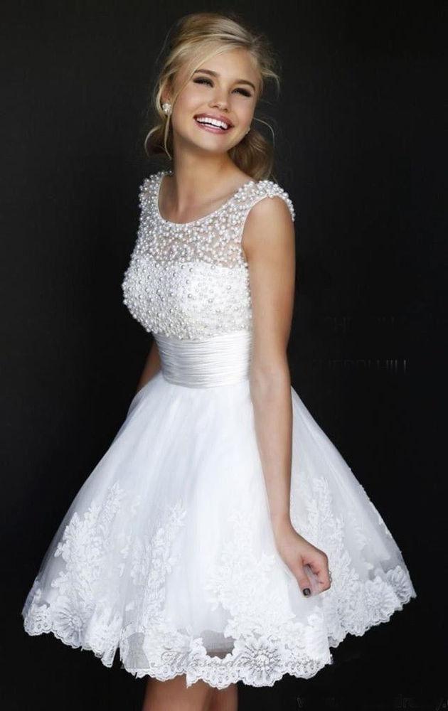 Kurz Brautjungfernkleid Abendkleid Brautkleider Cocktail-Party Kleid ...