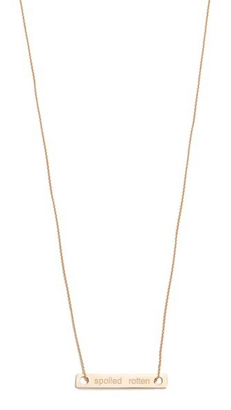 mini necklace gold jewels