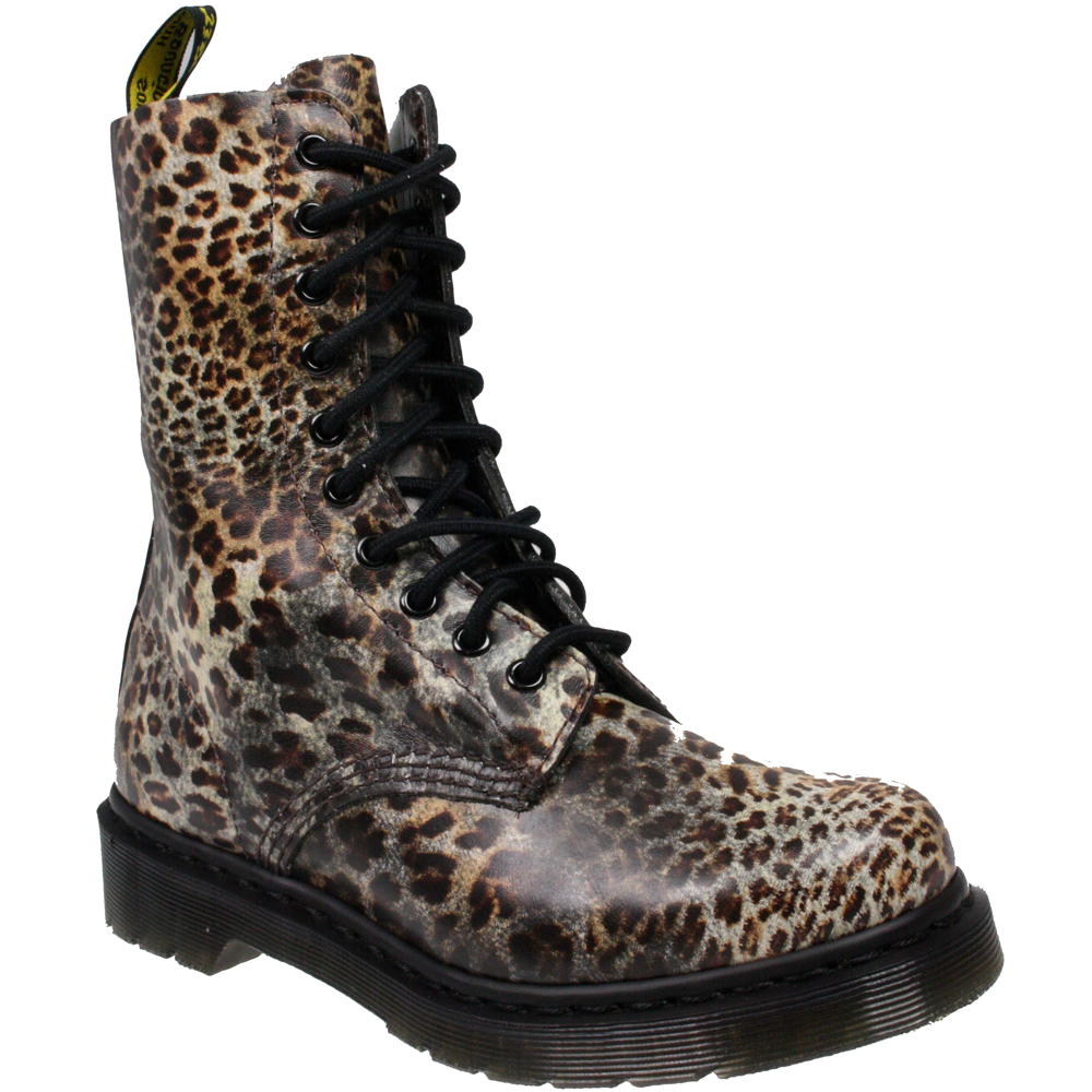 Dr Martens CLASSIC 10 EYE 1490 LEOPARD PRINT LEATHER ANKLE LACE UP BOOTS SIZE | eBay
