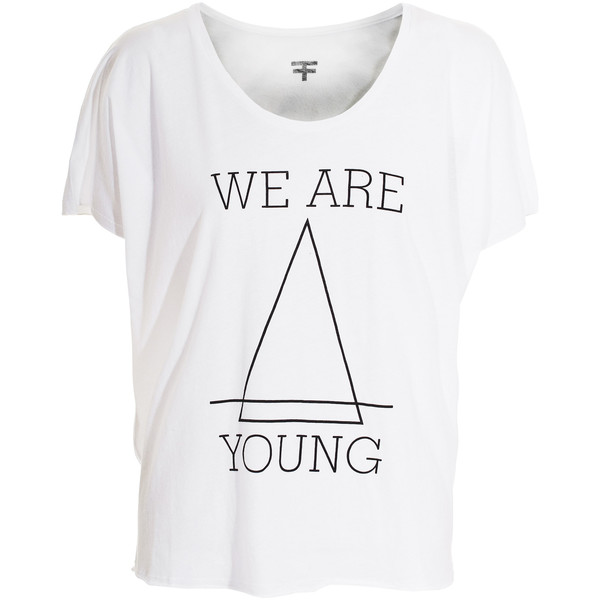Felder felder we are young white oversized t shirt with for How to get foundation out of a white shirt