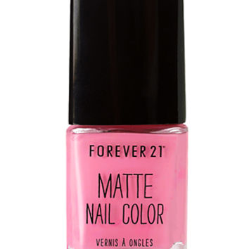 Flamingo Pink Matte Nail Polish on Wanelo