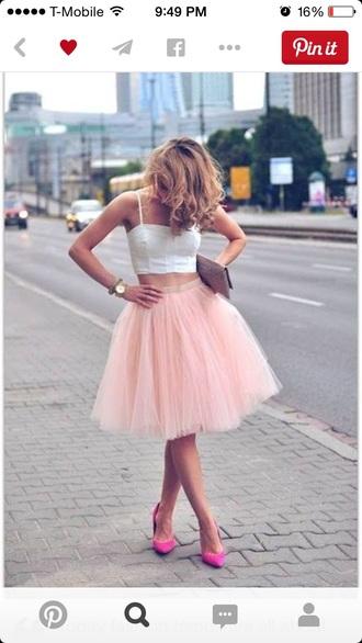 skirt tutu soft pink