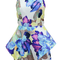 2014 free shipping flower color printing exaggerated flounced playsuit jumpsuits tb 6281-in jumpsuits & rompers from apparel & accessories on aliexpress.com