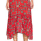 For love & lemons pia midi skirt in red from revolve.com